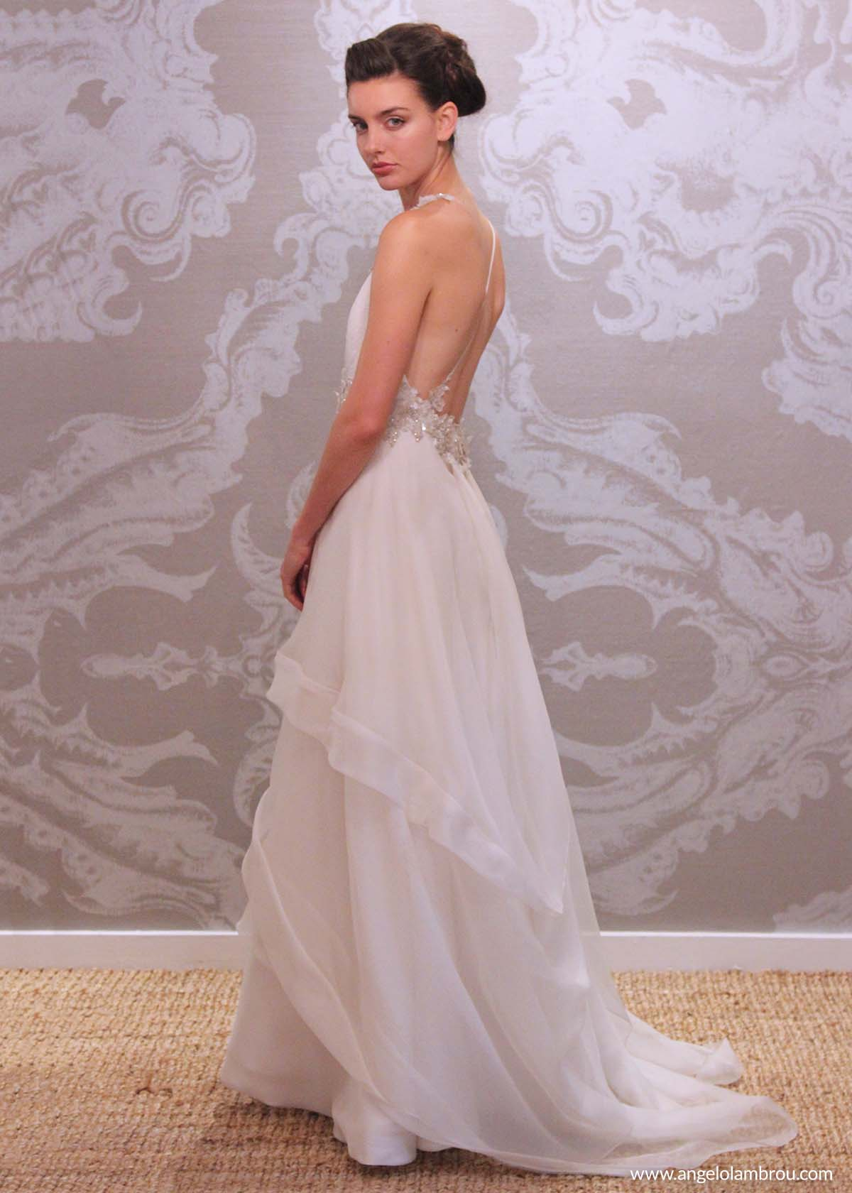 Custom handmade wedding evening gowns angelo lambrou for Custom made wedding dresses nyc